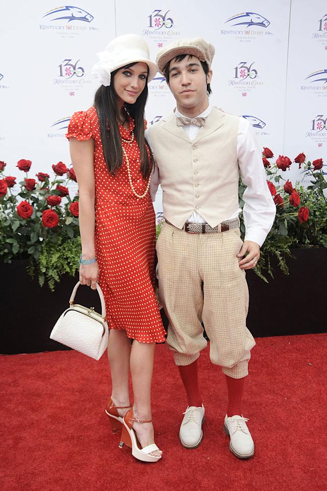 """Pete Wentz and wife Ashlee Simpson-Wentz rocked a cool 1920s vibe at the 136th Kentucky Derby in Louisville, Kentucky. Jeff Gentner/<a href=""""http://www.gettyimages.com/"""" target=""""new"""">GettyImages.com</a> - May 1, 2010"""