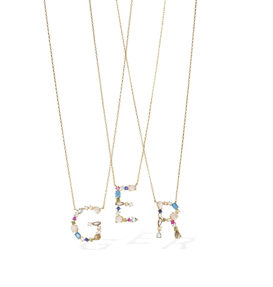 """<p><strong>Tai Jewelry</strong></p><p>taijewelry.com</p><p><strong>$80.00</strong></p><p><a href=""""https://www.taijewelry.com/collections/necklaces/products/stone-monogram-pendant"""" target=""""_blank"""">Shop Now</a></p><p><em>Originally $80 each, now 20 percent off with code """"OPRAH""""</em></p><p>Mom's a precious gem who contains multitudes, so a gold-plated initial pendant with a mélange of stones sums up her whole vibe quite nicely.<em><br></em></p>"""