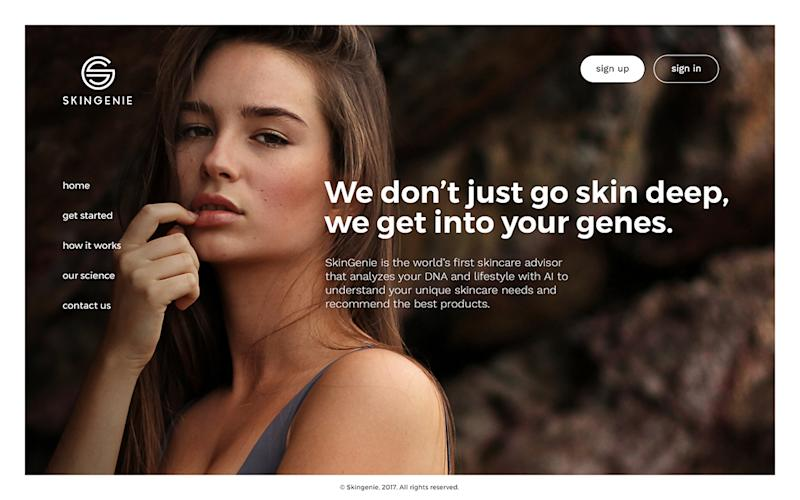 SkinGenie beauty DNA reports are reviewed and certified by dermatologists and uses a proprietary algorithm to explore potential predispositions of over 30 skin and about 20 hair traits. (Photo: SkinGenie)