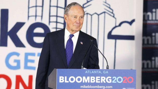 PHOTO: Democratic presidential candidate Mike Bloomberg prepares to leave the stage after speaking at an organizing event in Atlanta on Jan. 10, 2020. (Christopher Aluka Berry/Reuters)