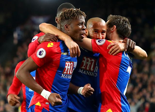 <p>All smiles after Palace take the lead</p>