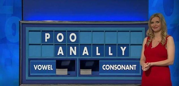 Rachel Riley couldn't hide her smirk on the latest edition of Countdown (Photo: Channel 4)