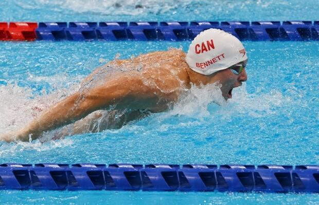 Canadian swimmer Nicholas Bennett, seen above in the 100m butterfly, reached the finals in three of his four events during his first Paralympic Games in Tokyo. (Scott Grant/Canadian Paralympic Committee - image credit)