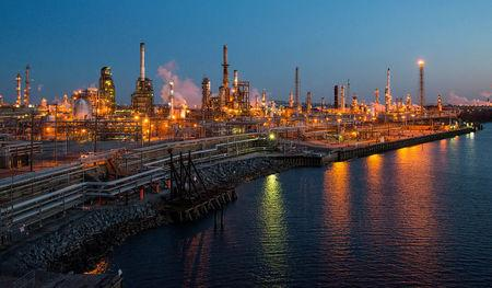 FILE PHOTO: The Philadelphia Energy Solutions oil refinery owned by The Carlyle Group is seen at sunset in Philadelphia