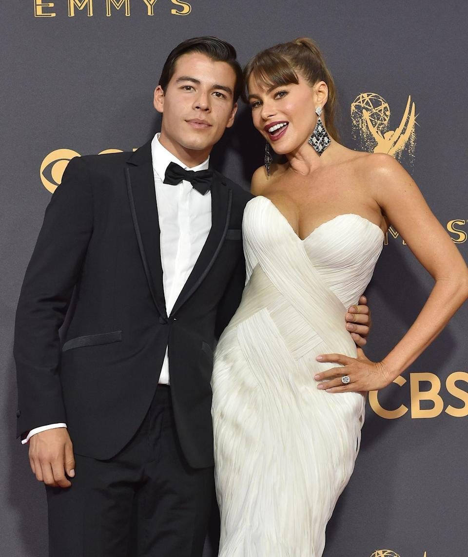 """<p>""""I was really young when I divorced his father, so <a href=""""https://people.com/celebrity/sofia-vergara-on-being-a-proud-single-mom-to-son-manolo/"""" rel=""""nofollow noopener"""" target=""""_blank"""" data-ylk=""""slk:I raised him"""" class=""""link rapid-noclick-resp"""">I raised him</a> trying to set the best example and give him the best that I could ... When people compliment me on him, on how well mannered, how charming, funny, and well-behaved he is, it makes all the sacrifices worthwhile."""" </p>"""