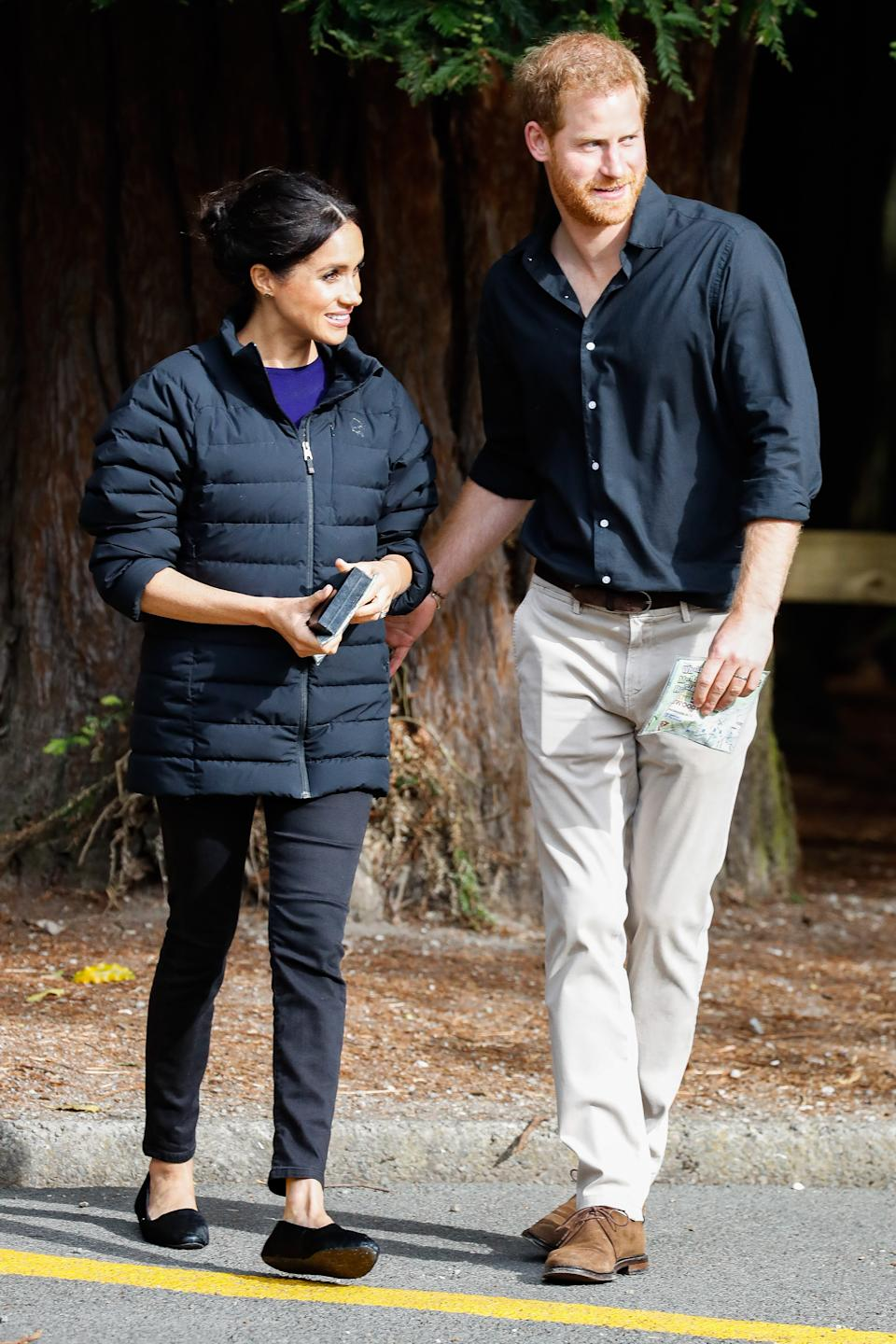 Meghan Markle wearing the Starling Loafers by Birdies during her visit to New Zealand in 2018. (Image via Getty Images)