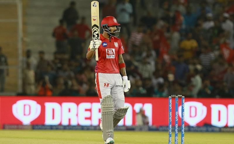 K. L. Rahul of KXIP after his fifty during match 32 of the Vivo Indian Premier League Season 12, 2019 between the Kings XI Punjab and the Rajasthan Royals held at the IS Bindra Stadium, Mohali on the 16th April 2019 Photo by: Rahul Gulati /SPORTZPICS for BCCI