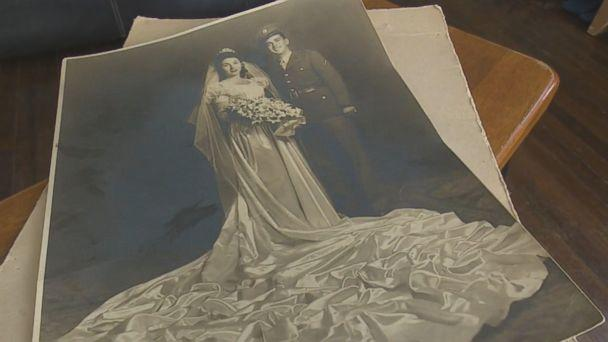 PHOTO: Emmy Ordonez and her family are hoping to find the owners of a vintage wedding photo found in the garage of a home they rent in Dallas. (WFAA )