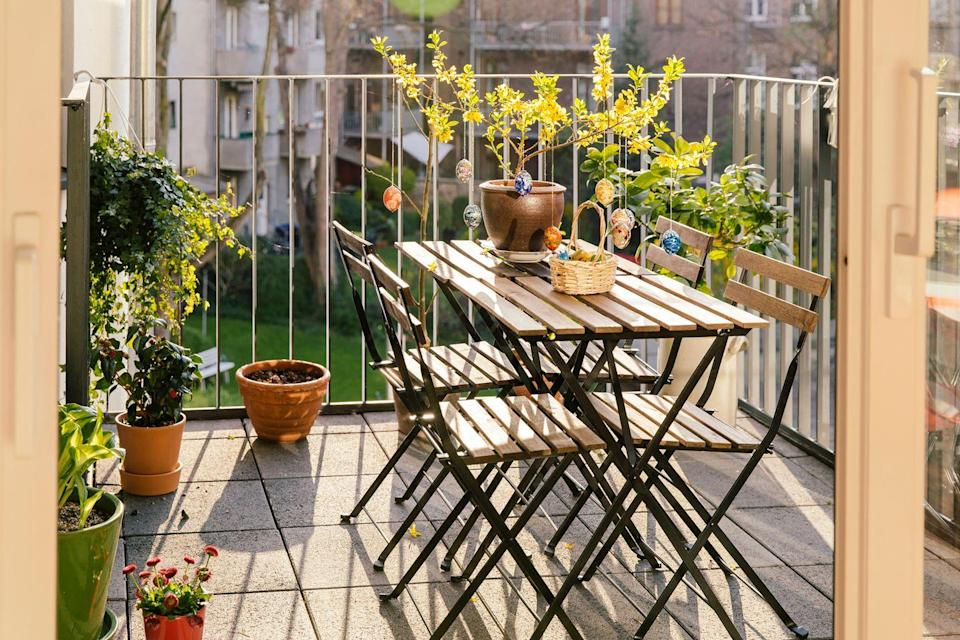 <p>Don't stress if your balcony has limited square footage. Foldable furniture, which is great for enjoying meals or lounging, is the best way to make the most of your space. </p>