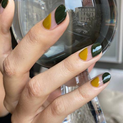 "<p>Shaken, not stirred. Bring the colors of your favorite drink to your fingertips with these olive-toned nails. </p><p><a class=""link rapid-noclick-resp"" href=""https://go.redirectingat.com?id=74968X1596630&url=https%3A%2F%2Fpaint-box.com%2Fproducts%2Fnail-lacquer-like-lush&sref=https%3A%2F%2Fwww.goodhousekeeping.com%2Fbeauty%2Fnails%2Fg3186%2Fspring-nail-designs%2F"" rel=""nofollow noopener"" target=""_blank"" data-ylk=""slk:SHOP OLIVE GREEN POLISH"">SHOP OLIVE GREEN POLISH</a></p><p><a href=""https://www.instagram.com/p/CJjhZRbpy8g/&hidecaption=true"" rel=""nofollow noopener"" target=""_blank"" data-ylk=""slk:See the original post on Instagram"" class=""link rapid-noclick-resp"">See the original post on Instagram</a></p>"
