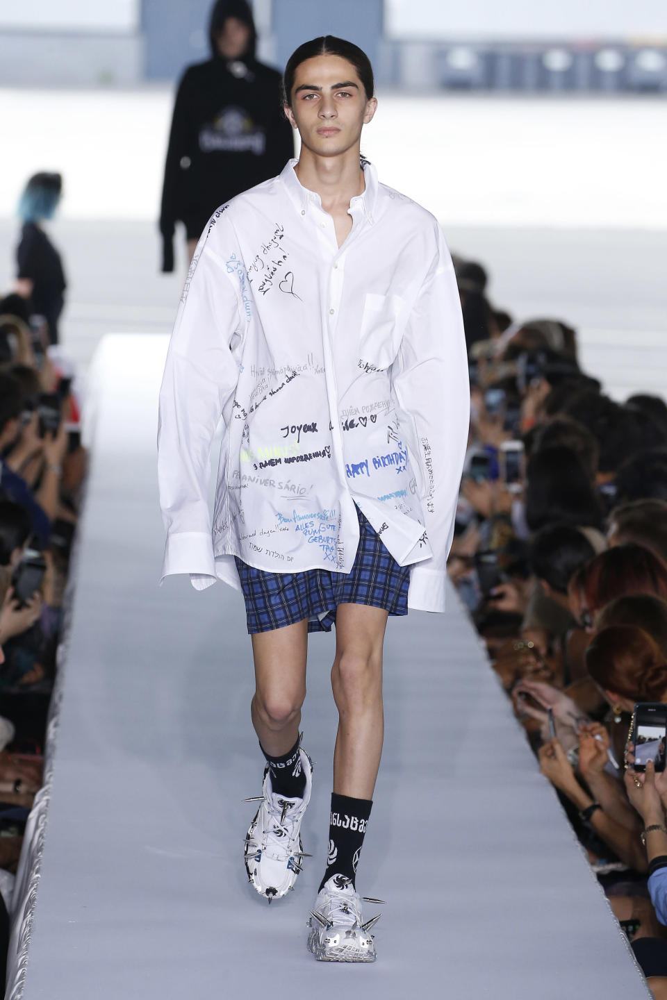 The haute couture school shirt debuted on the SS19 runway during Paris Fashion Week [Photo: Getty]
