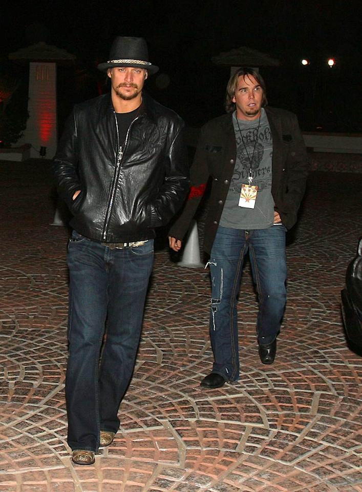 """The rowdy one, Kid Rock, attends a private dinner hosted by Warner Music CEO Lyor Cohen at the Audi Forum. Perhaps the musician will run into his ex, Pamela Anderson, who was also in Arizona for the weekend's festivities. Polk Imaging/<a href=""""http://www.wireimage.com"""" target=""""new"""">WireImage.com</a> - February 2, 2008"""