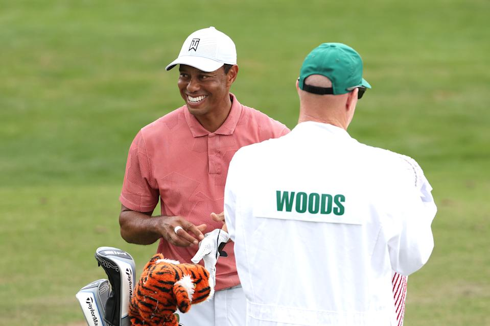 Tiger Woods always has a fine time at Augusta. (Jamie Squire/Getty Images)