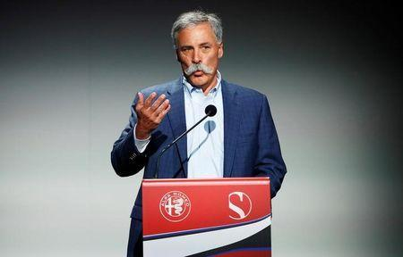 Formula One group CEO Chase Carey speaks during the Alfa Romeo Sauber F1 Team presentation in Arese, near Milan, Italy December 2, 2017. REUTERS/Alessandro Garofalo