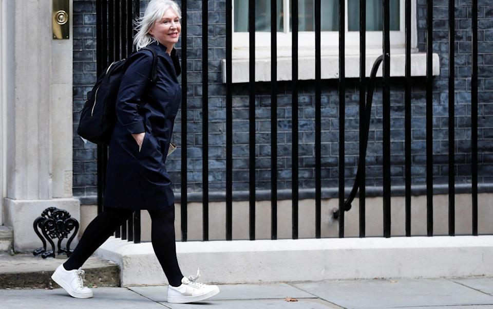 Nadine Dorries leaves Downing Street after her first Cabinet meeting - Reuters