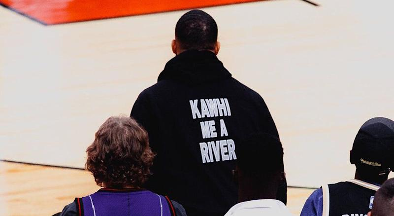 Drake is having the time of life, while invoking Raptors superstar Kawhi Leonard during Game 6 against the Milwaukee Bucks (Kishan Mistry/Yahoo Sports Canada)