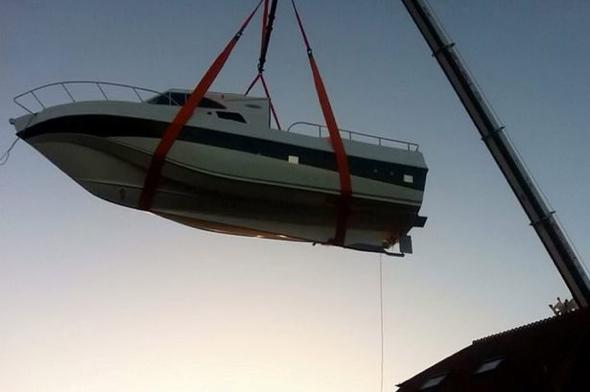 Father and son build £175k yacht in garden - that's too big to get out