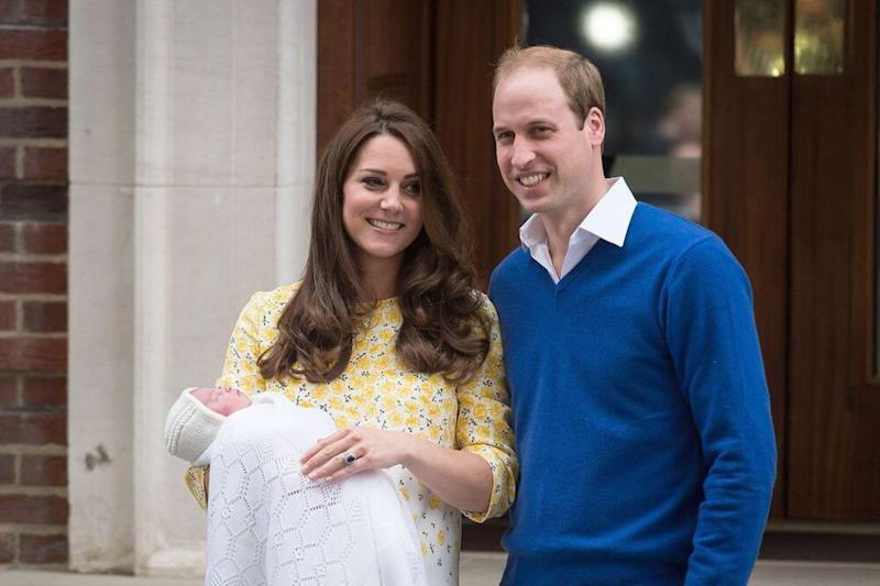 Kate Middleton and Prince William after the birth of Princess Charlotte in 2015 | LEON NEAL/AFP/Getty