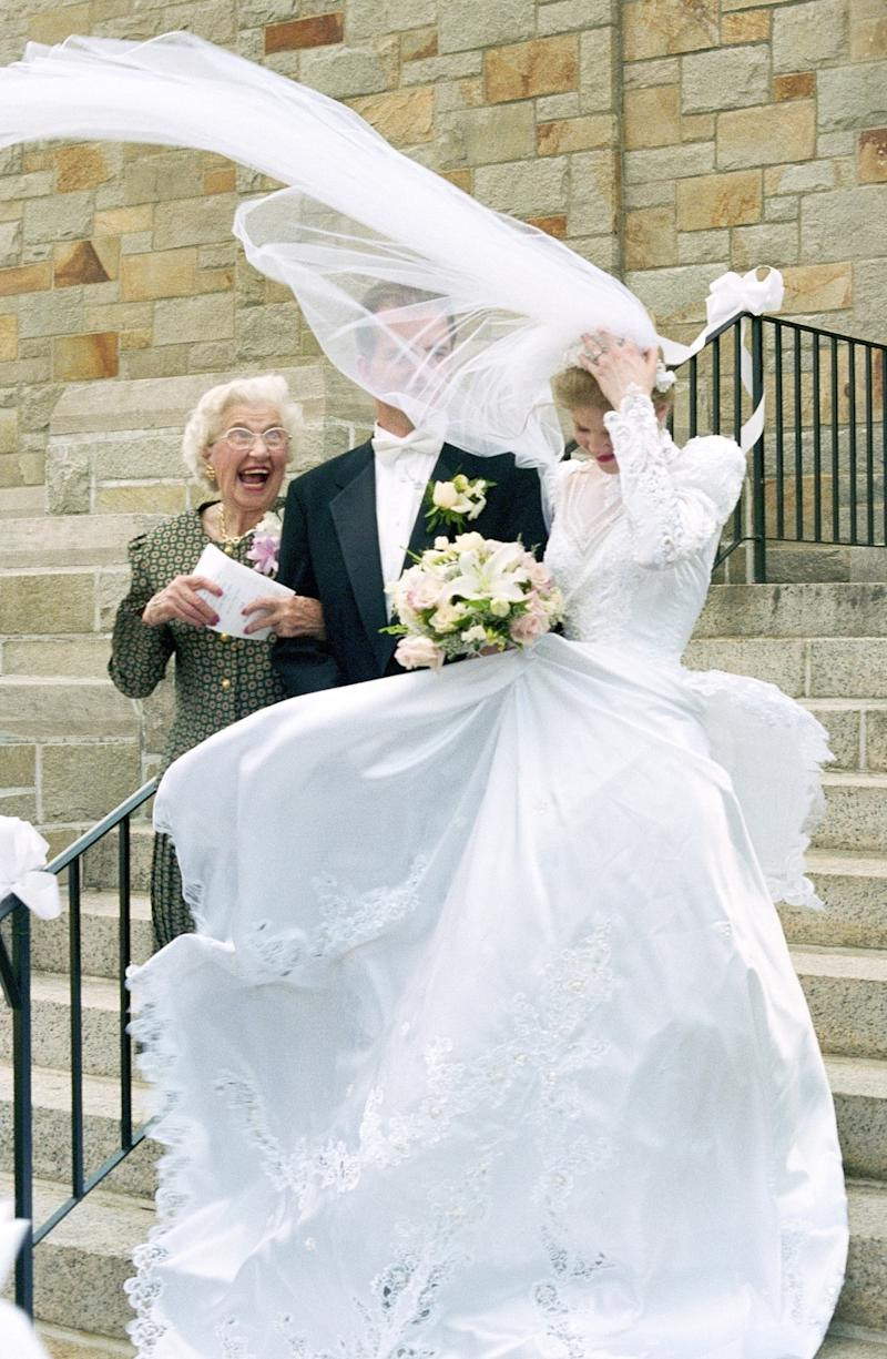 Flying Wedding Veils Are Exactly What They Sound Like