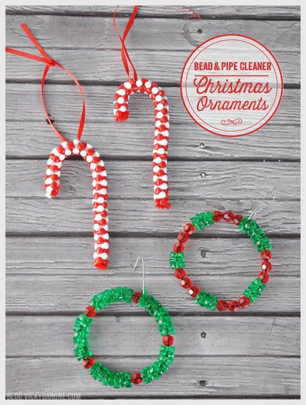 "<p>It's not hard to figure out why we love these DIY ornaments: They're <em>so </em>simple to put together. All you need are pipe cleaners, beads, and ribbons.</p><p><strong>Get the tutorial at <a href=""http://blog.vickybarone.com/2014/12/10/diy-bead-pipe-cleaner-christmas-ornaments/"" rel=""nofollow noopener"" target=""_blank"" data-ylk=""slk:Vicky Barone"" class=""link rapid-noclick-resp"">Vicky Barone</a>.</strong></p><p><a class=""link rapid-noclick-resp"" href=""https://www.amazon.com/Cleaners-Assorted-Chenille-Projects-Decorations/dp/B07MNJ5Q2K/ref=sr_1_1_sspa?tag=syn-yahoo-20&ascsubtag=%5Bartid%7C10050.g.5030%5Bsrc%7Cyahoo-us"" rel=""nofollow noopener"" target=""_blank"" data-ylk=""slk:SHOP PIPE CLEANERS"">SHOP PIPE CLEANERS</a></p>"