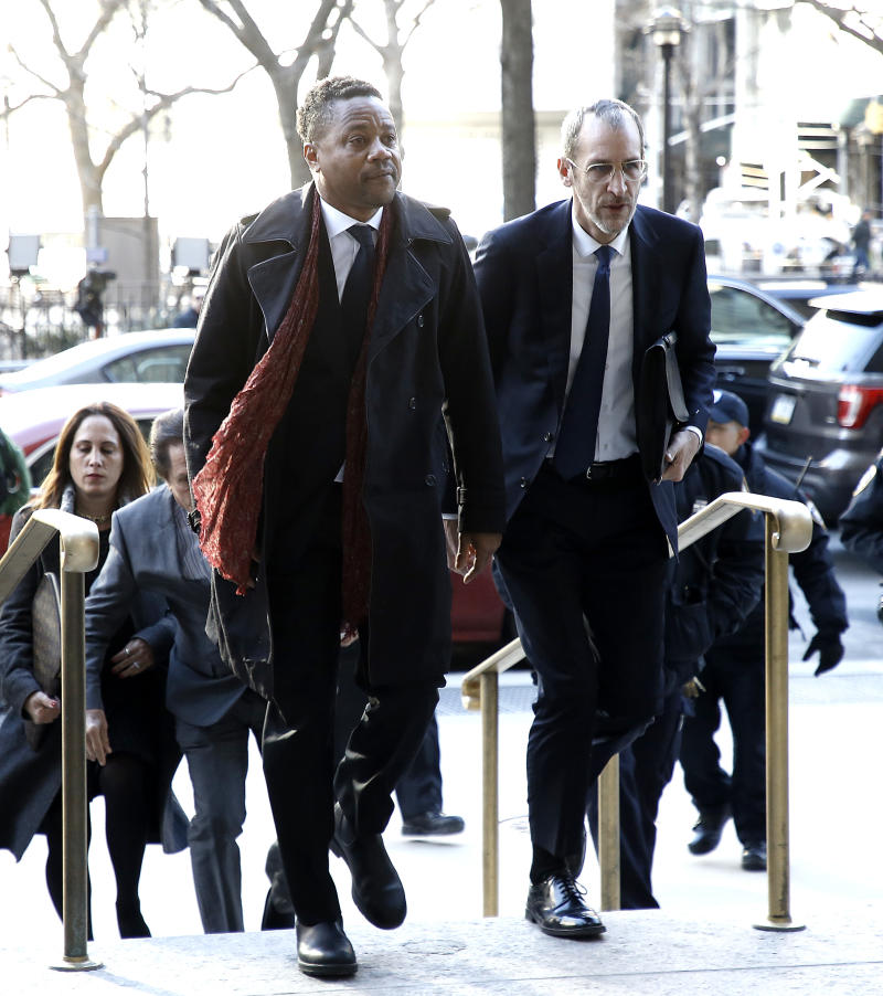 Cuba Gooding Jr. arrives at court in lower Manhattan on January 22, 2020 in New York City. (Photo by John Lamparski/Getty Images)