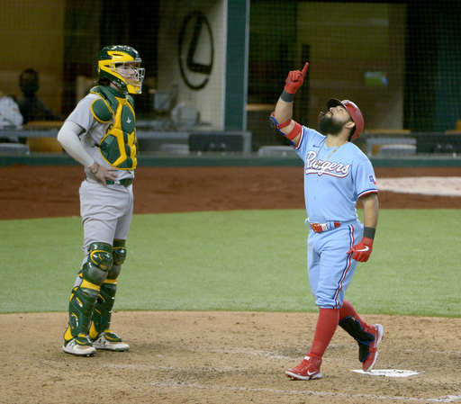 AL West-leading A's hit frenetic stretch with loss in Texas