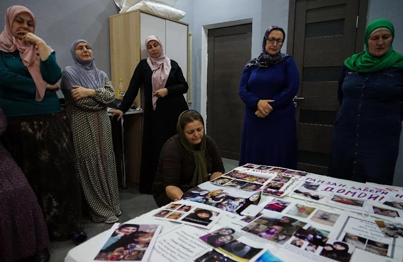 Some women from Russia's majority-Muslim regions in the Caucasus, lost touch with their daughters who left to join the Islamic State jihadist group (AFP Photo/Naira DAVLASHYAN)