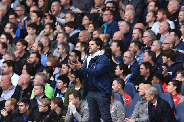 """We are in the race for the title,"" Tottenham Hotspur's head coach Mauricio Pochettino said (AFP Photo/Ben STANSALL)"