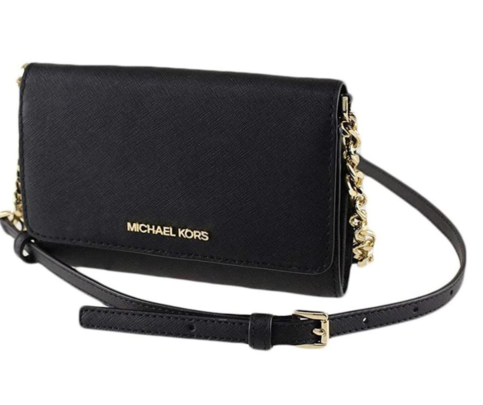 <p>This <span>Michael Kors Jet Set Travel Multifunction Phone Crossbody Bag</span> ($97) will be the most versatile choice in your collection.</p>