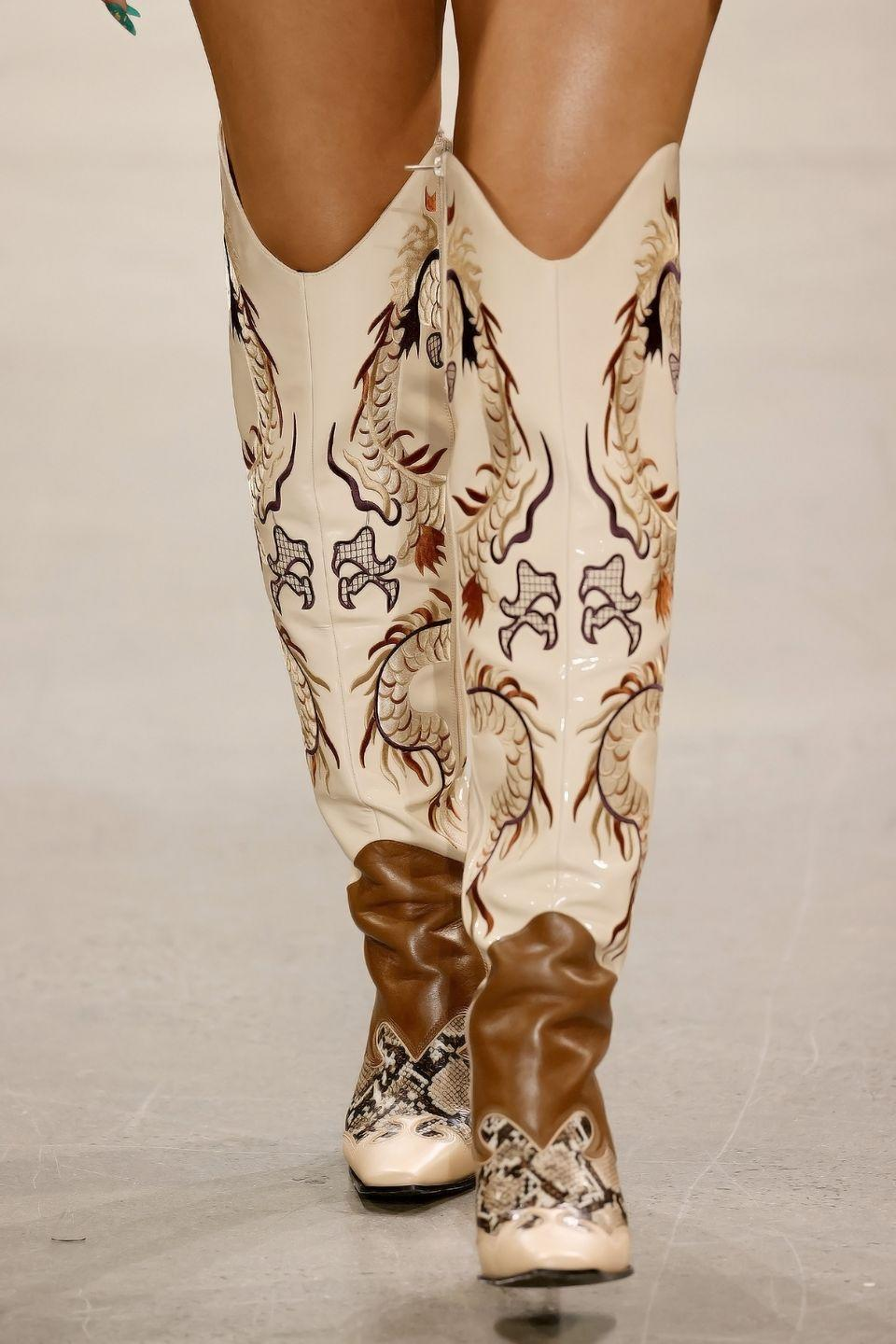 <p>The right way to do cowgirl boots for spring. </p>