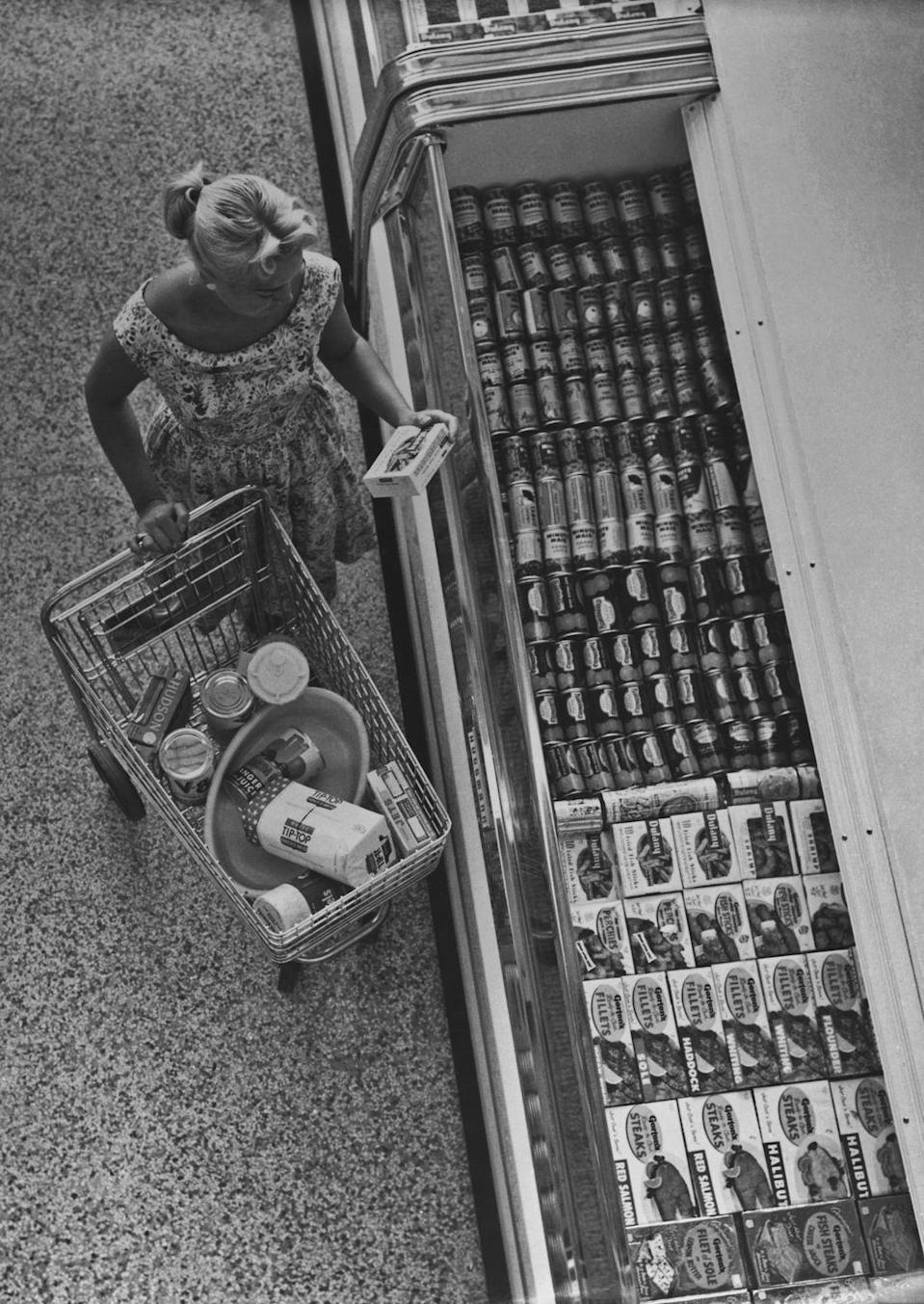"""<p>Until the rise of supermarkets, households got their milk <a href=""""https://food52.com/blog/20229-milkmen-history"""" rel=""""nofollow noopener"""" target=""""_blank"""" data-ylk=""""slk:delivered by a milk man"""" class=""""link rapid-noclick-resp"""">delivered by a milk man</a>. This model saw a decline when people started moving to more suburban neighborhoods, where driving was a part of their daily routine.</p>"""