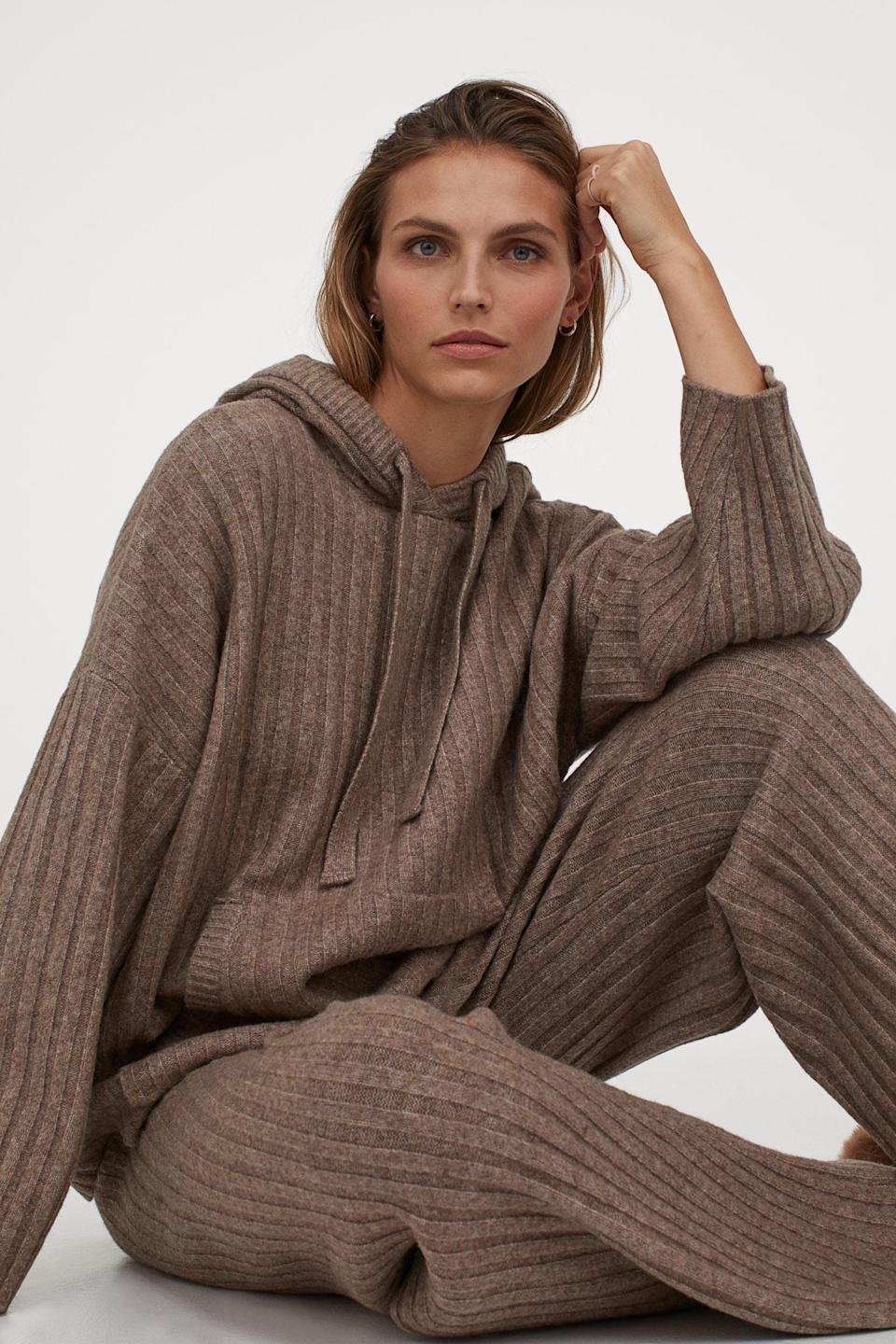 <p>You just can't leave the matching <span>Ribbed Wool-Blend Pants</span> ($40).</p>