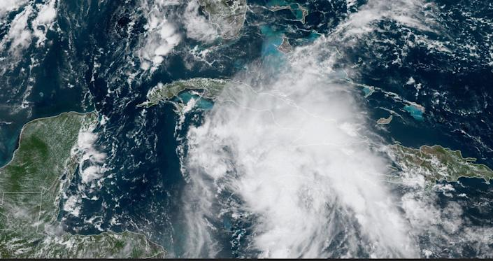 A photo provided by the National Hurricane Center of what is expected to become Hurricane Ida (NOAA)