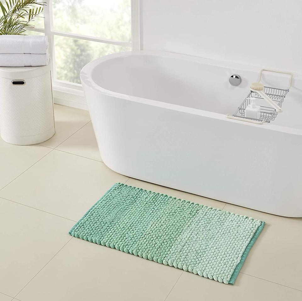 """<br><br><strong>Refinery29</strong> Emerie Collection Premium Ultra Soft Chenille Bath Rug, $, available at <a href=""""https://www.amazon.com/Refinery29-Collection-Chenille-Non-Slip-Absorbent/dp/B0831CX4QB"""" rel=""""nofollow noopener"""" target=""""_blank"""" data-ylk=""""slk:Amazon"""" class=""""link rapid-noclick-resp"""">Amazon</a>"""