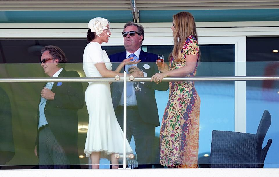 Piers also recently attended the Cazoo Derby Festival at Epsom Racecourse in June (PA)