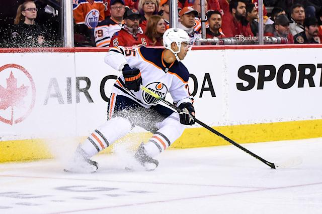 Edmonton Oilers defenceman Darnell Nurse has signed a two-year bridge deal with the club. (Getty)