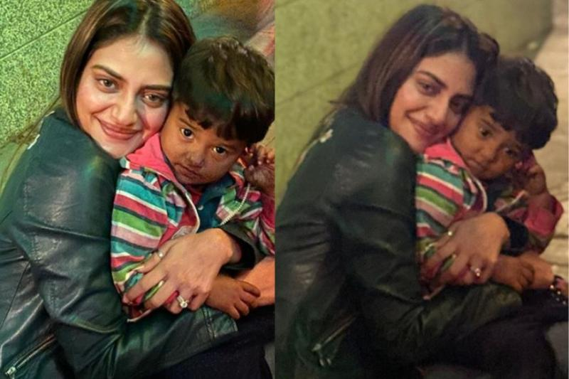 Nusrat Jahan Wins Hearts After Posting a Photo with Toddler Selling Balloons