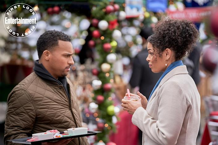 """<p><strong>Premieres:</strong> Nov. 7, 8 p.m. ET/PT, Hallmark Channel</p> <p><strong>Stars:</strong> Jordin Sparks, Michael Xavier </p> <p><strong>Contains:</strong> The past, a chef, dreams of writing</p> <p><strong>Official description:</strong> """"After opening a 100-year-old time capsule and meeting a charming chef, Lou questions whether or not she should move to New York after Christmas and further her writing career.""""</p>"""