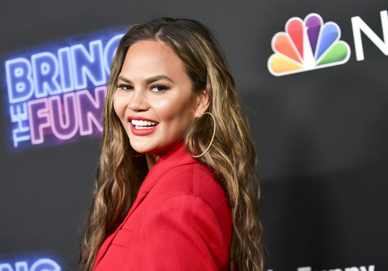 "LOS ANGELES, CALIFORNIA - JUNE 26: Chrissy Teigen attends the premiere of NBC's ""Bring The Funny"" at Rockwell Table & Stage on June 26, 2019 in Los Angeles, California. (Photo by Rodin Eckenroth/FilmMagic)"