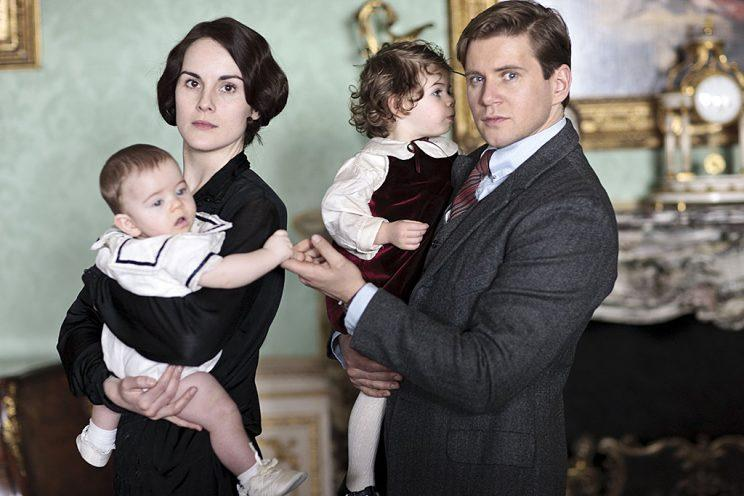 Michelle Dockery as Lady Mary Crawley and Allen Leech as Tom Branson in PBS's Downton Abbey. (Photo Credit: MASTERPIECE/PBS)