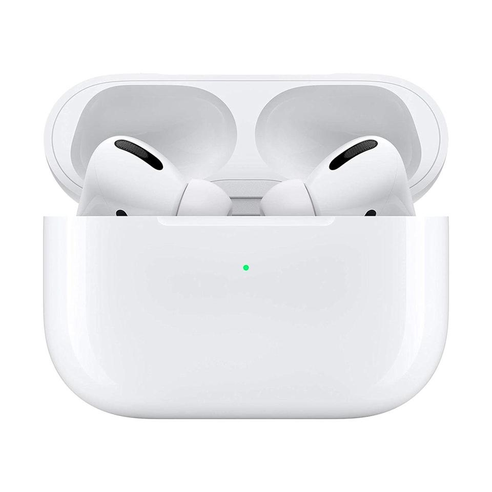 "I would <em>not</em> call myself a frugal person by any means, but I'm shockingly stubborn about investing in tech. I have the same old pair of headphones I got with my iPhone 7 four years ago. So when AirPods came out, I wrote them off as unnecessary. Then I received the new AirPod Pros as a gift this year and wondered how I ever lived without them...as did my boyfriend. We both became so obsessed with them (the sound quality! the transparency! the noise-canceling toggle!), we had to start planning who could use them when for Zoom calls and evening runs. Despite the fact that they're not cheap, I finally decided to buy him his own pair, so I could selfishly keep mine to myself 24/7. Believe me, it was worth it. —<em>L.S.</em> $250, Amazon. <a href=""https://www.amazon.com/gp/product/B07ZPC9QD4/ref=ox_sc_saved_title_1?"" rel=""nofollow noopener"" target=""_blank"" data-ylk=""slk:Get it now!"" class=""link rapid-noclick-resp"">Get it now!</a>"
