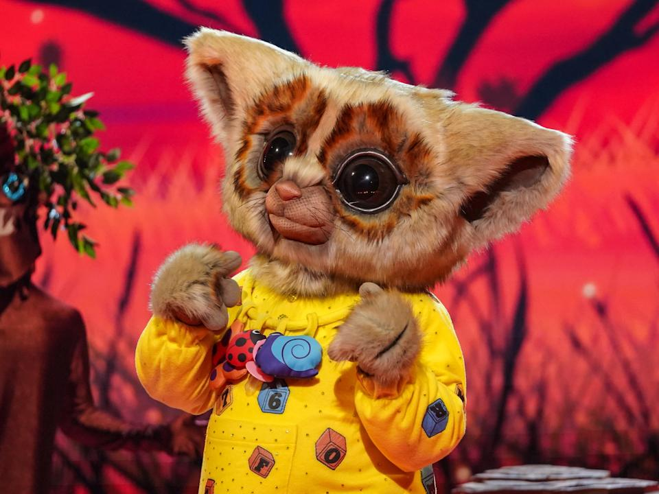 Bush Baby in season two of The Masked Singer (ITV)