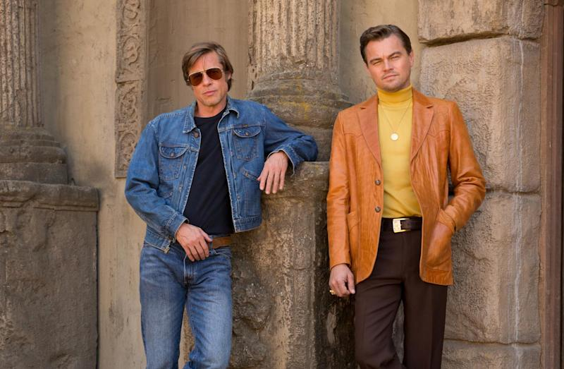 Double act: Brad Pitt and Leonardo DiCaprio play close pals in the new film