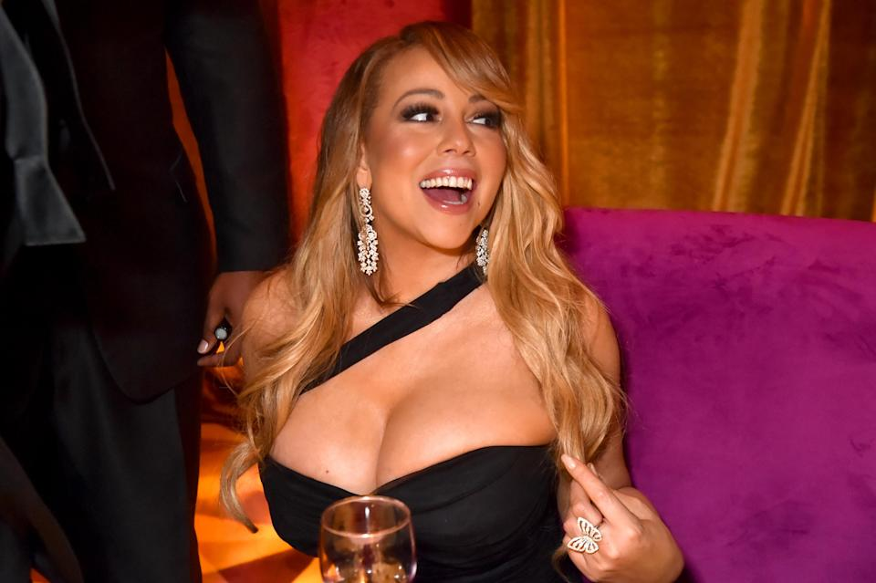 Mariah Carey attends HBO's Official 2018 Golden Globe Awards After Party, Jan. 7, 2018, in Los Angeles. (Photo: Getty Images)