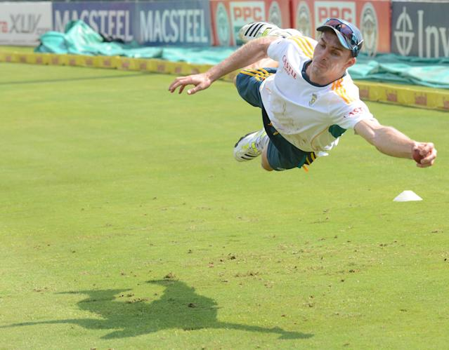 PRETORIA, SOUTH AFRICA - FEBRUARY 10: Ryan McLaren of South Africa in action during the South African national cricket team training session and press conference at SuperSport Park on February 10, 2014 in Pretoria, South Africa. (Photo by Lee Warren/Gallo Images/Getty Images)