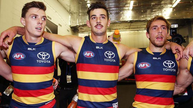 Tex (centre) isn't buying Lever's (L) reason for wanting to leave. Image: Getty