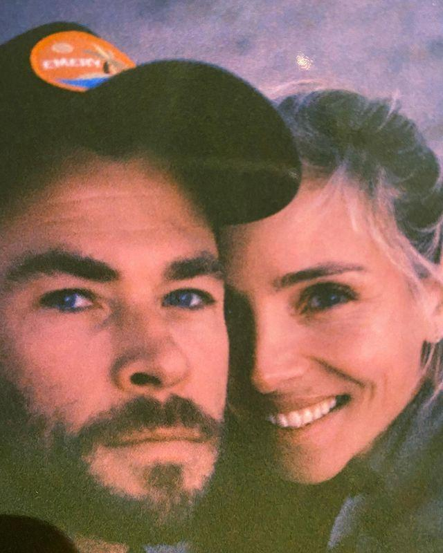 """<p>The actress shared a selfie of her and her husband Chris Hemsworth, promising """"always and forever.""""</p>"""
