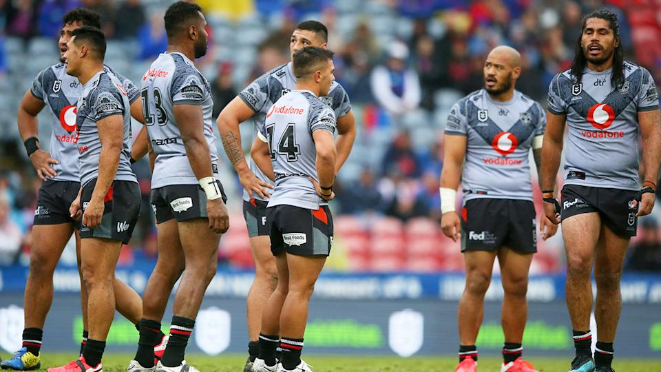 Warriors players, pictured here looking dejected during their loss to Newcastle.