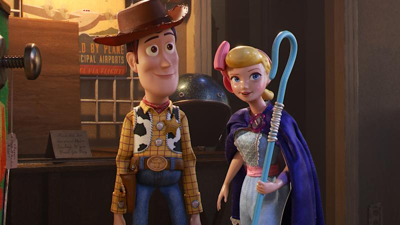 Tom Hanks and Annie Potts returned to voice Woody and Bo Peep in Pixar sequel 'Toy Story 4'. (Credit: Disney)