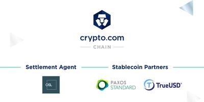 OS Limited (OSL), Paxos & TrustToken join the Crypto.com Chain (PRNewsfoto/Crypto.com)